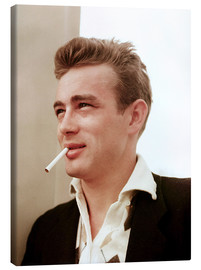 Canvastavla  James Dean with cigarette