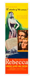Premiumposter  REBECCA, from left: Laurence Olivier, Joan Fontaine, 1940.