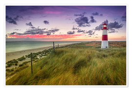 Premiumposter  Lighthouse List East (Elbow/Sylt) - Dirk Wiemer