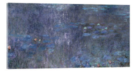 Akrylglastavla  Water Lilies, Reflection of trees 2 - Claude Monet