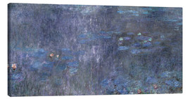 Canvastavla  Water Lilies, Reflection of trees 2 - Claude Monet