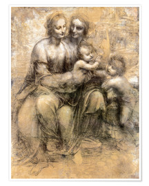 Poster  The Virgin and Child with Saint Anne - Leonardo da Vinci