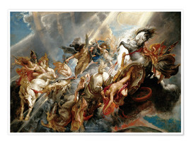 Premiumposter  The Fall of Phaeton - Peter Paul Rubens