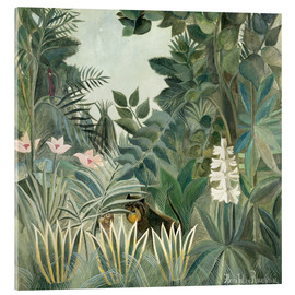 Akrylglastavla  The Equatorial Jungle - Henri Rousseau