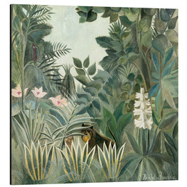 Aluminiumtavla  The Equatorial Jungle - Henri Rousseau