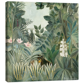 Canvastavla  The Equatorial Jungle - Henri Rousseau