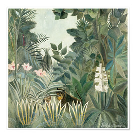 Premiumposter  The Equatorial Jungle - Henri Rousseau