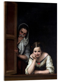 Akrylglastavla  Women from Galicia at the window - Bartolome Esteban Murillo