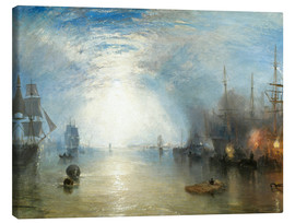 Canvastavla  Keelmen Heaving in Coals by Moonlight - Joseph Mallord William Turner