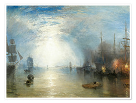 Premiumposter Keelmen Heaving in Coals by Moonlight