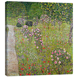 Canvastavla  Orchard with roses - Gustav Klimt