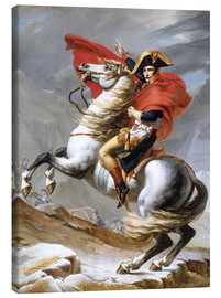 Canvastavla  Napoleon korsar Alperna - Jacques-Louis David