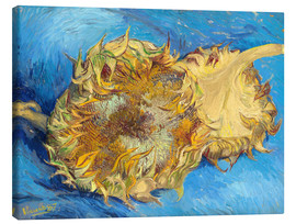 Canvastavla  Two sunflowers - Vincent van Gogh