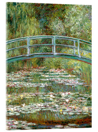 Akrylglastavla  The Japanese bridge - Claude Monet