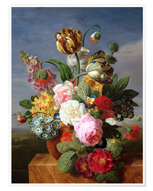 Premiumposter Bouquet of flowers in a vase