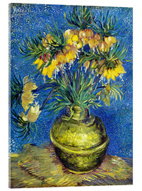 Akrylglastavla  Fritillaries in a Copper Vase - Vincent van Gogh