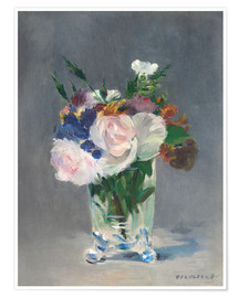 Premiumposter  Flowers in a Crystal Vase - Edouard Manet