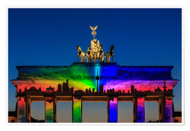 Premiumposter  Berlin skyline at the Brandenburg Gate - Frank Herrmann