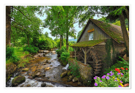 Premiumposter  Mill in the black forest - FineArt Panorama