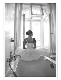 Premiumposter  Ballerina the bathroom - Jenny Stadthaus