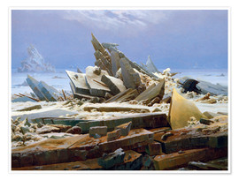 Premiumposter  The Arctic (of the Hope) - Caspar David Friedrich