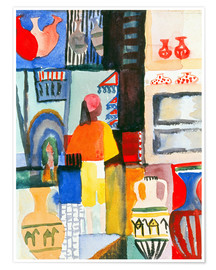Poster Merchant with jugs