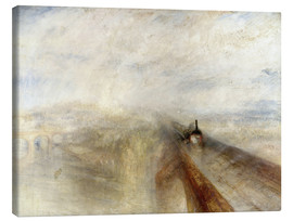 Canvastavla  Rain, Steam and Speed - Joseph Mallord William Turner
