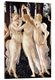 Akrylglastavla  Primavera: The Three Graces - Sandro Botticelli