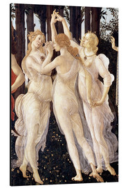 Aluminiumtavla  Primavera: The Three Graces - Sandro Botticelli