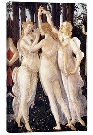 Canvastavla  Primavera: The Three Graces - Sandro Botticelli