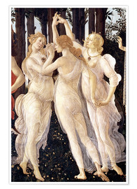 Poster  The Three Graces - Sandro Botticelli