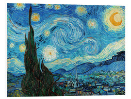 PVC-tavla  Starry night - Vincent van Gogh