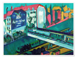 Premiumposter  Tram and railway - Ernst Ludwig Kirchner