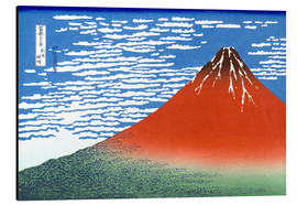Aluminiumtavla  Mt. Fuji in clear weather - Katsushika Hokusai