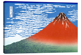 Canvastavla  Fine Wind, Clear Morning (Red Fuji) - Katsushika Hokusai