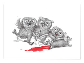 Premiumposter  Party - Tipsy Owls - Stefan Kahlhammer