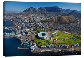 Canvastavla  Cape Town Stadium and Table Mountain - David Wall