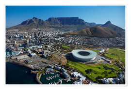 Premiumposter  Cape Town Stadium and Table Mountain - David Wall