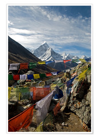 Premiumposter  Prayer flags and Ama Dablam - David Noyes