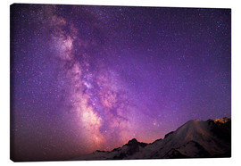 Canvastavla  Milky way at the violet sky - Gary Luhm