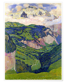 Premiumposter  Jungfrau mountain, seen from Isenfluh - Ferdinand Hodler