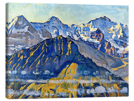 Canvastavla  Eiger, Mönch and Jungfrau in the sun - Ferdinand Hodler