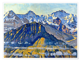 Premiumposter  Eiger, Mönch and Jungfrau in the sun - Ferdinand Hodler