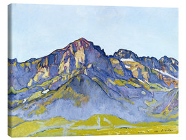 Canvastavla  Dents Blanches near Champéry - Ferdinand Hodler