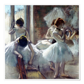 Premiumposter  Group of Dancers - Edgar Degas