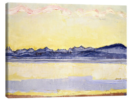 Canvastavla  Mont Blanc with red clouds - Ferdinand Hodler