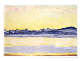 Premiumposter  Mont Blanc with red clouds - Ferdinand Hodler