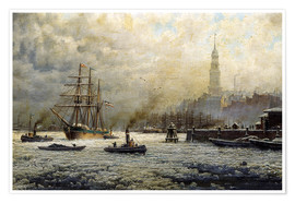 Premiumposter  The Port of Hamburg, 1893 - Georg Schmitz