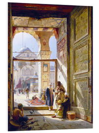 PVC-tavla  The Gate of the Great Umayyad Mosque, Damascus - Gustave Bauernfeind