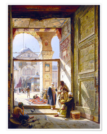Premiumposter  The Gate of the Great Umayyad Mosque, Damascus - Gustave Bauernfeind